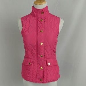 Lilly Pulitzer Getaway quilted vest, daiquiri pink